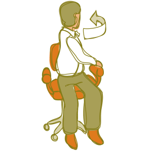 Chair exercise twist left
